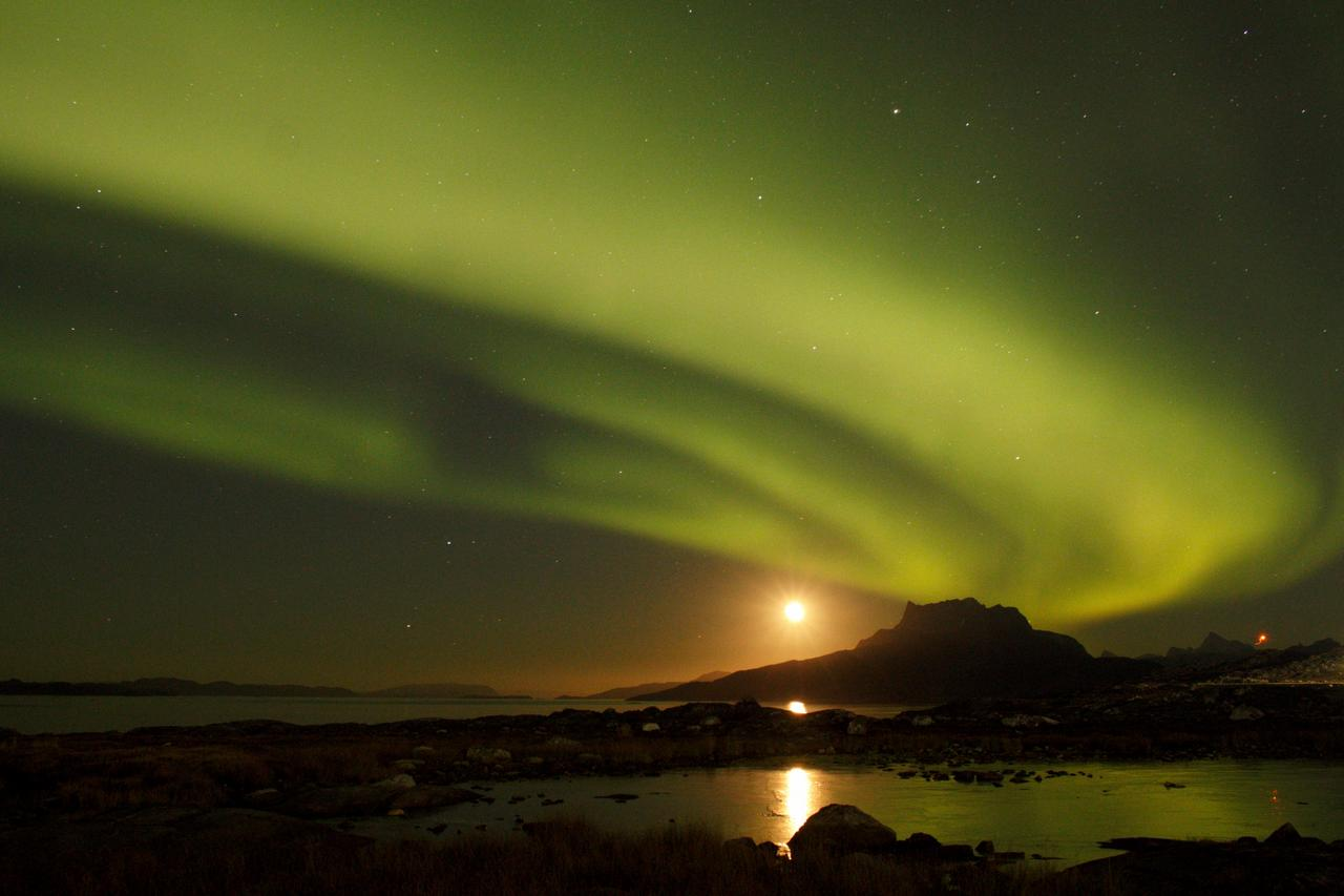 The Green Flash. Nuuk (nearby the University of Greenland / ved Grønlands Universitet) 29. september 2021