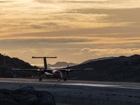 Dash 8 Arrival at Nuuk